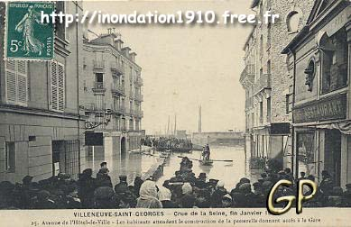villeneuve saint georges 94 inondation 1910. Black Bedroom Furniture Sets. Home Design Ideas